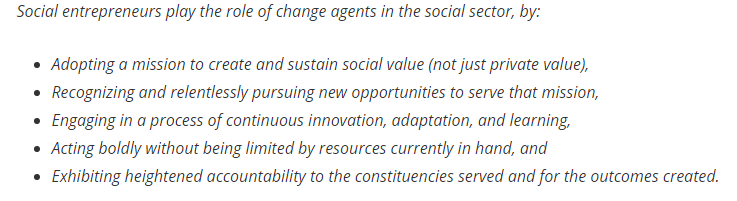 The meaning of Social Entrepreneurship