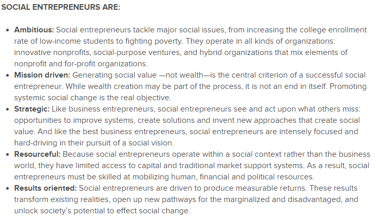 social entrepreneurship skoll definition