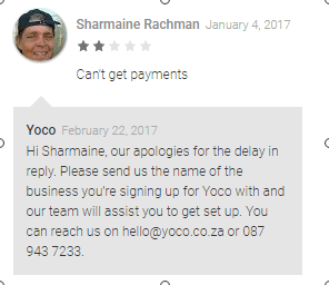 Yoco google store review