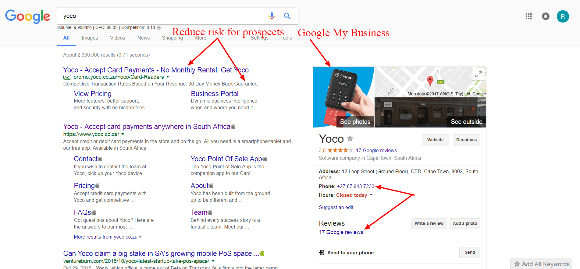 Yoco google search marketing africa
