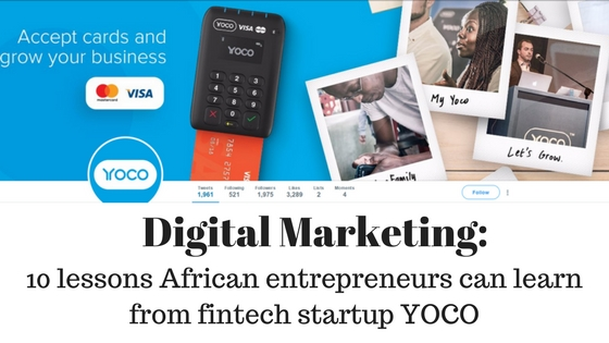 Digital Marketing Yoco African entrepreneurs