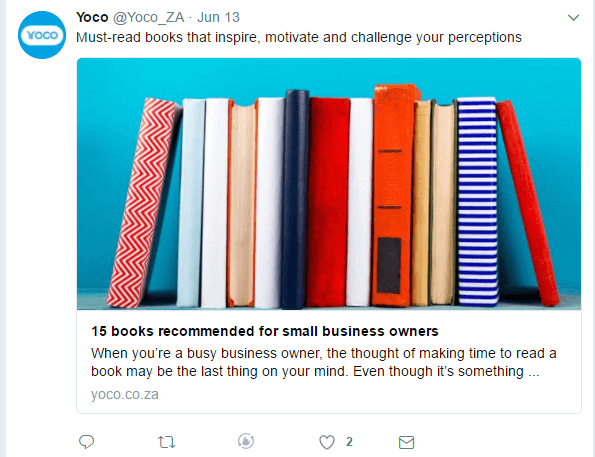 Yoco tweet recommended books