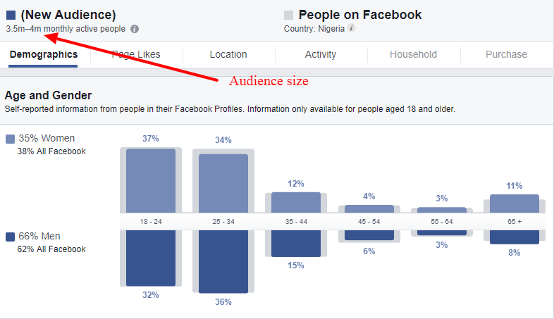 Facebook Audience Insights Nigeria