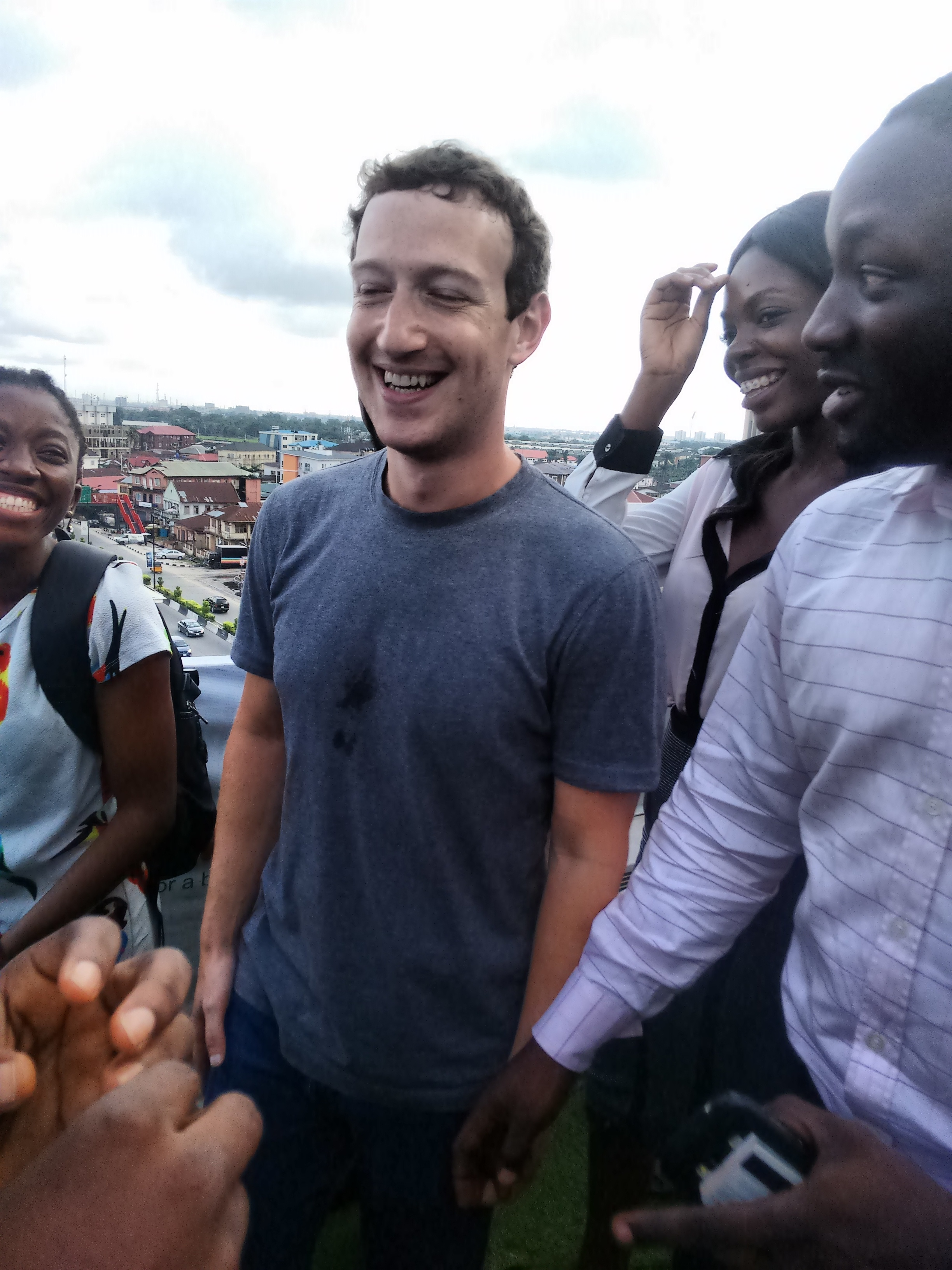Marck Zuckerberg in Nigeria with Dimeji Falana