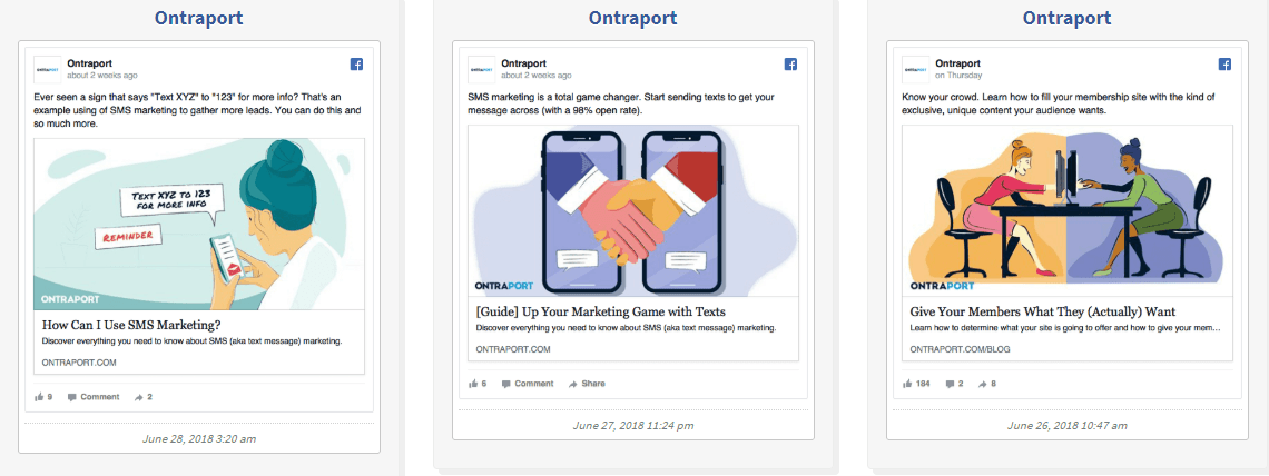 Ontraport Facebook ads