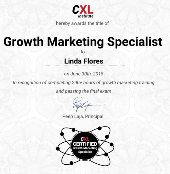 Cxl Institute Growth Marketing Minidegree Program